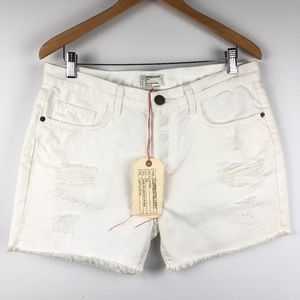 Current/Elliott The Scout Destroyed Shorts Size 28